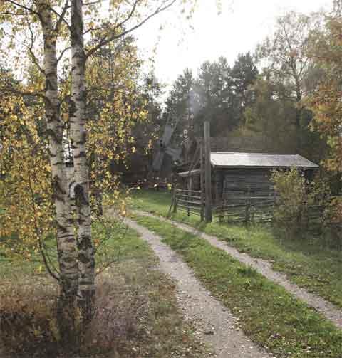 Reppuniemi's outdoor museum area